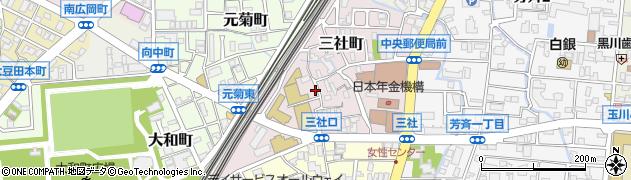 石川県金沢市三社町周辺の地図