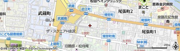 石川県金沢市上近江町周辺の地図