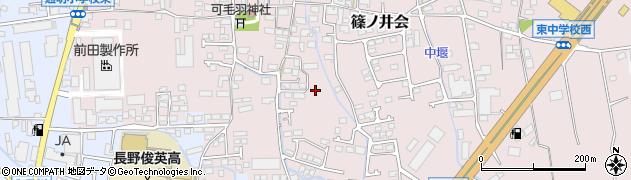 長野県長野市篠ノ井会周辺の地図