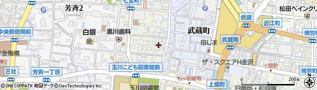 石川県金沢市玉川町周辺の地図
