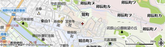 石川県金沢市子来町周辺の地図