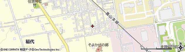 富山県富山市稲代周辺の地図