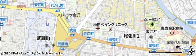 石川県金沢市袋町周辺の地図