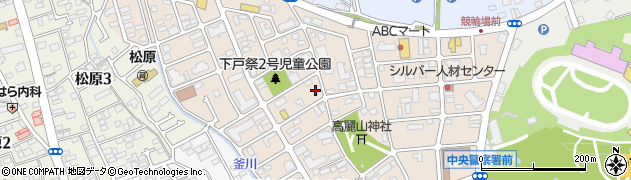 栃木県宇都宮市下戸祭周辺の地図