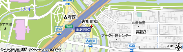 石川県金沢市古府町周辺の地図