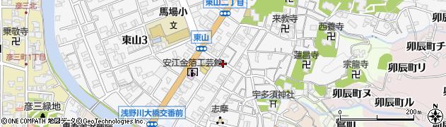 石川県金沢市東山周辺の地図