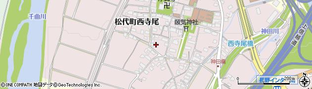 長野県長野市松代町西寺尾周辺の地図