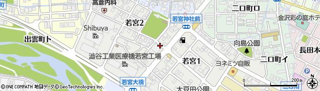 石川県金沢市若宮周辺の地図