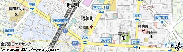 昭和大通り周辺の地図