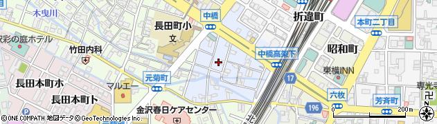 石川県金沢市中橋町周辺の地図
