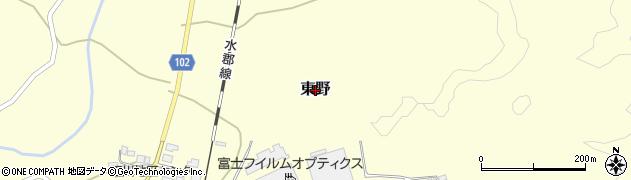 茨城県常陸大宮市東野周辺の地図