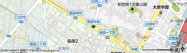 長田中央周辺の地図