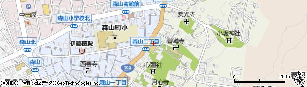 石川県金沢市山ノ上町周辺の地図