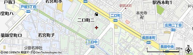 石川県金沢市二口町周辺の地図