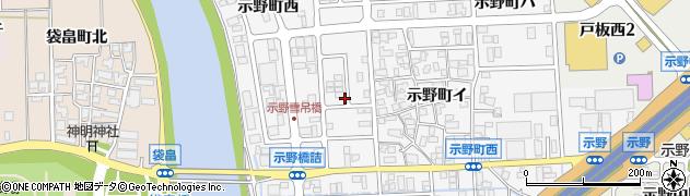 石川県金沢市示野町(ト)周辺の地図
