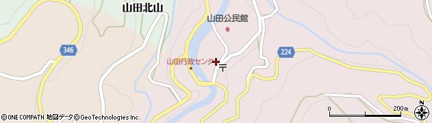 富山県富山市山田湯周辺の地図