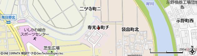石川県金沢市専光寺町(チ)周辺の地図