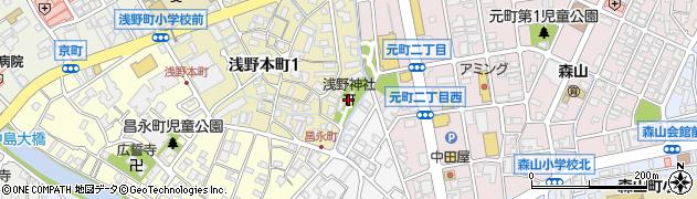 浅野神社周辺の地図