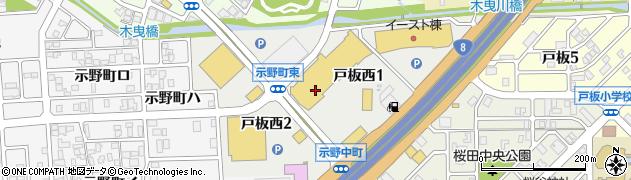 石川県金沢市戸板西周辺の地図