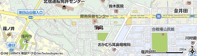 長野県長野市里島周辺の地図