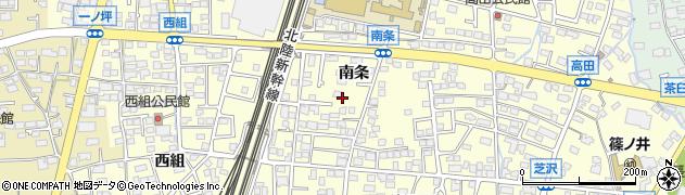 長野県長野市篠ノ井布施高田(南条)周辺の地図