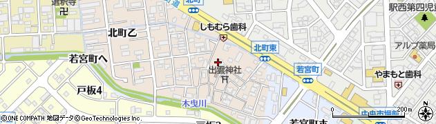 石川県金沢市北町(丁)周辺の地図