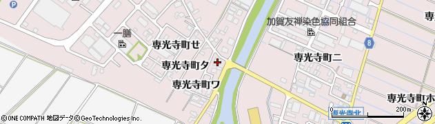 石川県金沢市専光寺町(ワ)周辺の地図