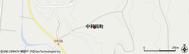 茨城県常陸太田市中利員町周辺の地図
