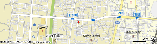 長野県長野市篠ノ井布施五明(東五明団地)周辺の地図
