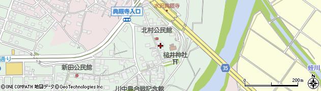 長野県長野市篠ノ井杵淵(北村)周辺の地図