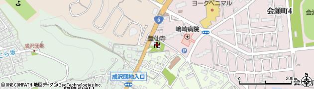 童仙寺周辺の地図