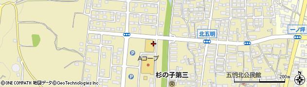 長野県長野市篠ノ井布施五明周辺の地図