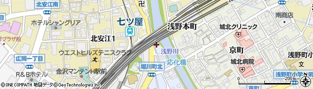 石川県金沢市西堀川町周辺の地図