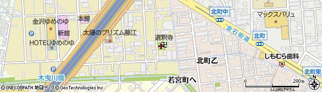 選釈寺周辺の地図