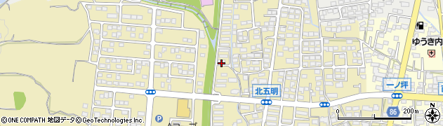 長野県長野市篠ノ井布施五明(北五明団地)周辺の地図