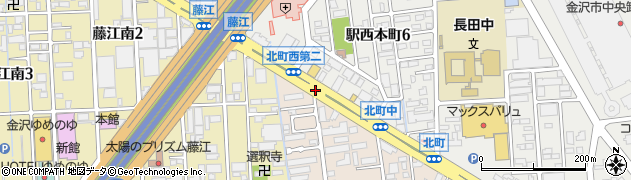 北町西周辺の地図