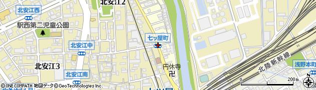 七ツ屋町周辺の地図