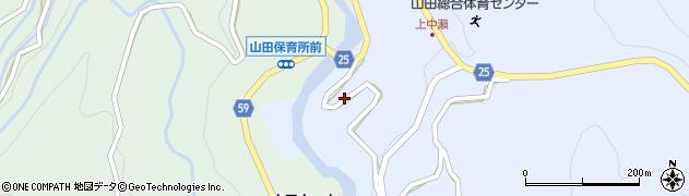 富山県富山市竹内周辺の地図