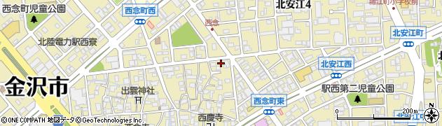 石川県金沢市西念町(イ)周辺の地図