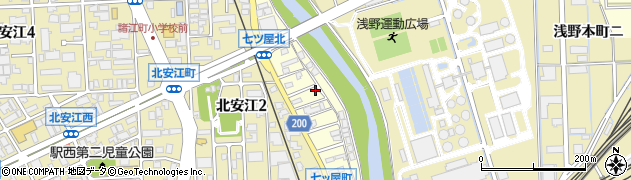 石川県金沢市七ツ屋町(ニ)周辺の地図