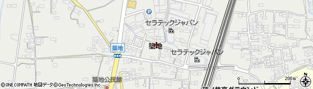 長野県長野市篠ノ井岡田(築地)周辺の地図