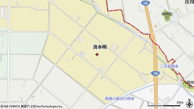 〒932-0202 富山県南砺市清水明の地図