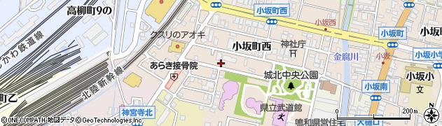 石川県金沢市小坂町(西)周辺の地図