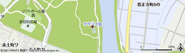 ササゴイの池周辺の地図