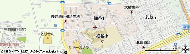 栃木県宇都宮市細谷周辺の地図