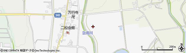 富山県富山市二松周辺の地図
