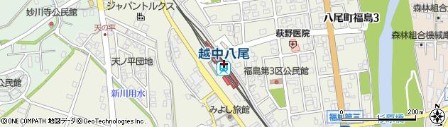 富山県富山市周辺の地図