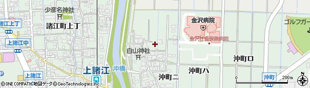 石川県金沢市沖町周辺の地図
