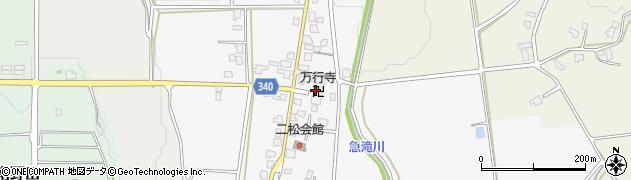 万行寺周辺の地図