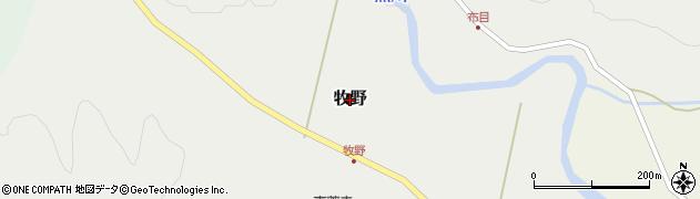 富山県富山市牧野周辺の地図